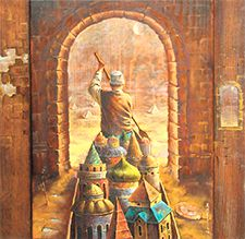 Piercing the Veil: Can visionary insights be trusted? Traveller? By Anastasiya Markovich. Painting In Oil On Wood, 2006.