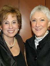 Left, Hadassah?s outgoing president, Nancy Falchuk and incoming president Marcie Natan.