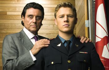 Hollywood Makeover: Ian McShane, left, and Christopher Egan star in NBC?s new show, ?Kings.?
