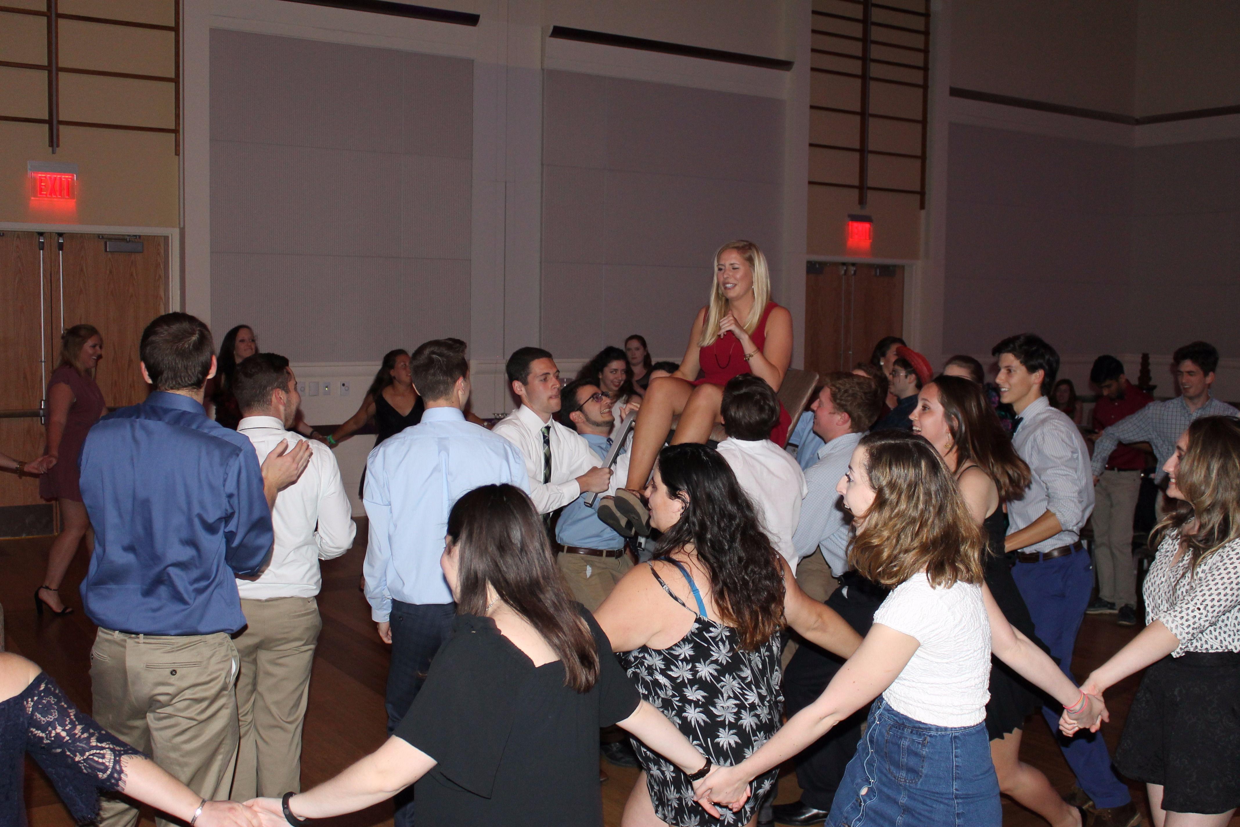 Jewish students celebrate Matza Ball 2017 at NC State.