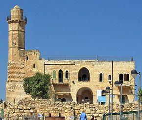 A mosque built on Crusader-era ruins in the village of Nebi Samuel.
