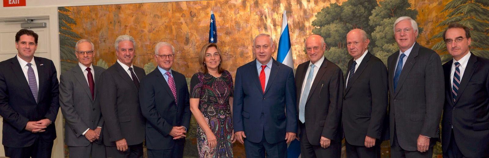 Israeli prime minister Benjamin Netanyahu meeting with Jewish leaders in New York, September 17, 2017