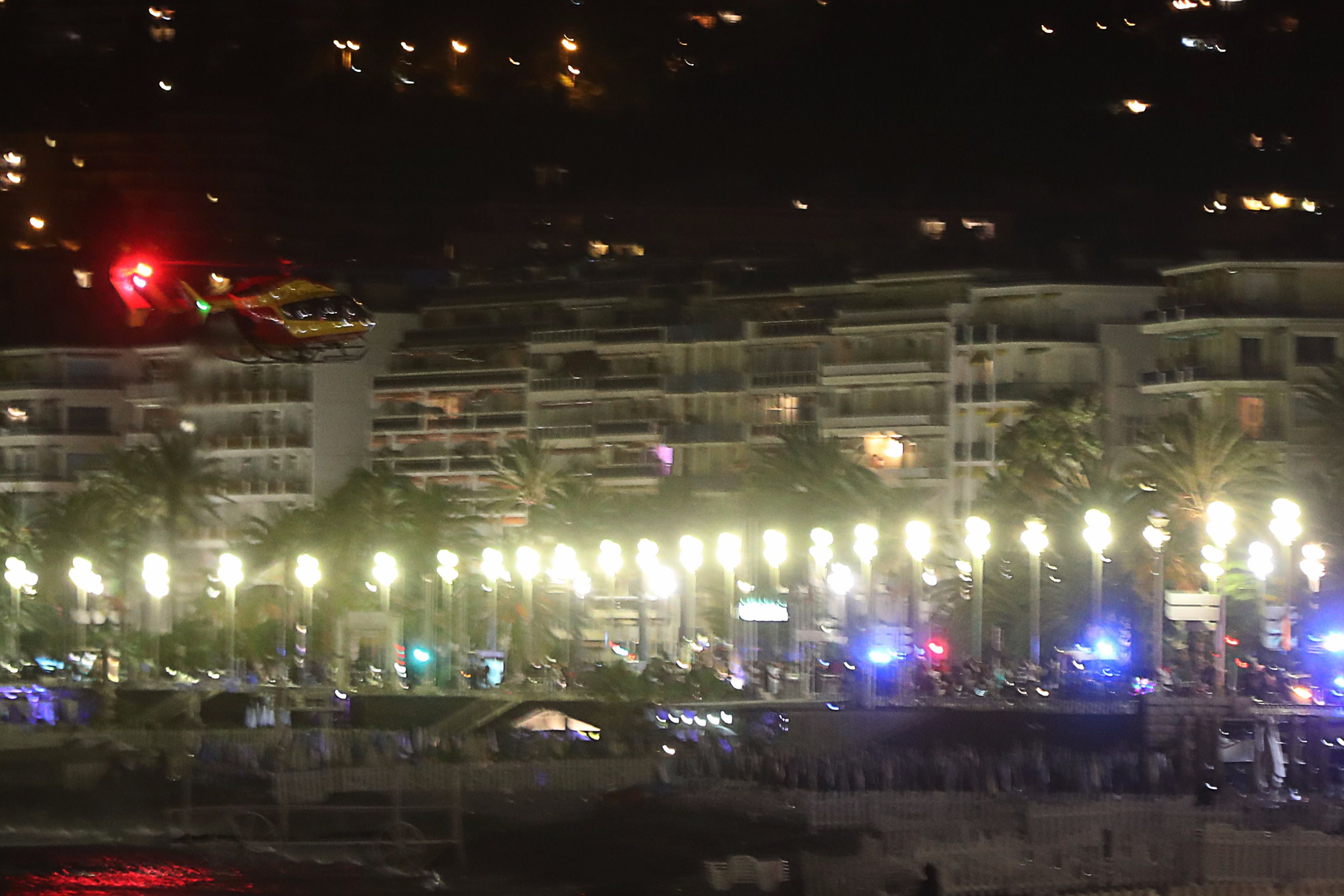 Dozens dead after truck drives into crowd in Nice, France, mayor says