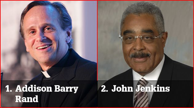A Different Gap: Addison Barry Rand leads the AARP, John Jenkins leads the University of Notre Dame. CEOs of Jewish charities in the salary survey are better paid than their non-Jewish counterparts.