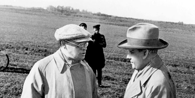 Paradise or Hell?: Two makers of modern Odessa, Isaac Babel (left) and Sergei Eisenstein, ca. 1935.