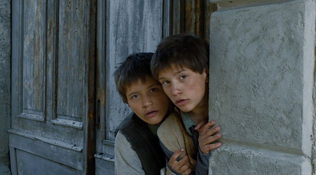 Grimm Tale: The twin boys in Janos Szaz's film remain stoic as they learn how to steal, blackmail and, eventually, kill.