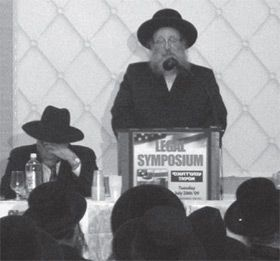 Sorry: The Spinka Grand Rabbi apologized in Brooklyn for money laundering.