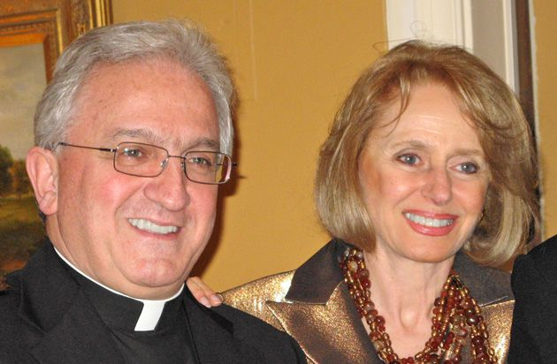 All Smiles: Archbishop Celestino Migliore and Georgette Bennett.