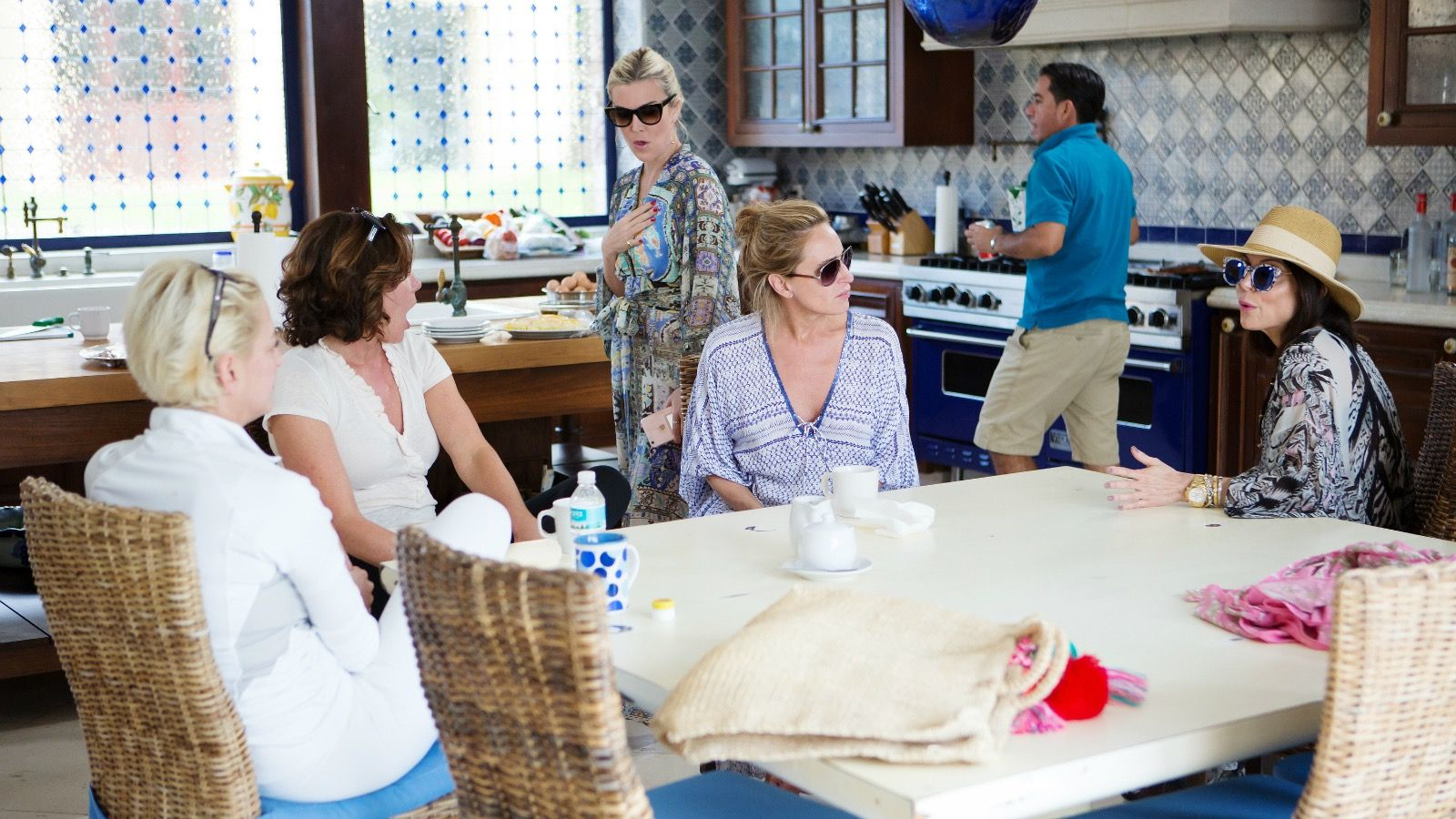 "The Real Housewives of New York City, Episode 9x16 ""Three Tequila…Floor!"" — Pictured: (l-r) Dorinda Medley, Luann De'Agostino, Tinsley Moritmer, Sonja Morgan, Bethenny Frankel."