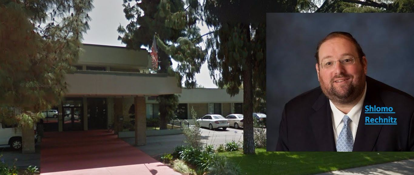 Shlomo Rechnitz and his Pomona, Calif. nursing home.