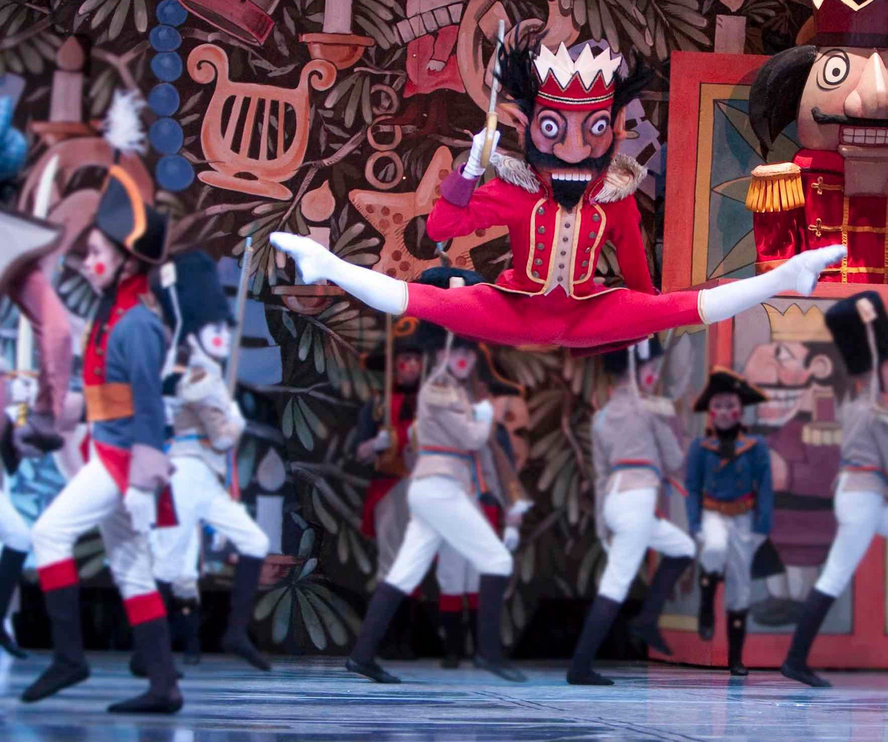"""Former Pacific Northwest Ballet dancer Andrew Bartee performs as """"The Nutcracker"""" in the Maurice Sendak-designed production of the ballet."""