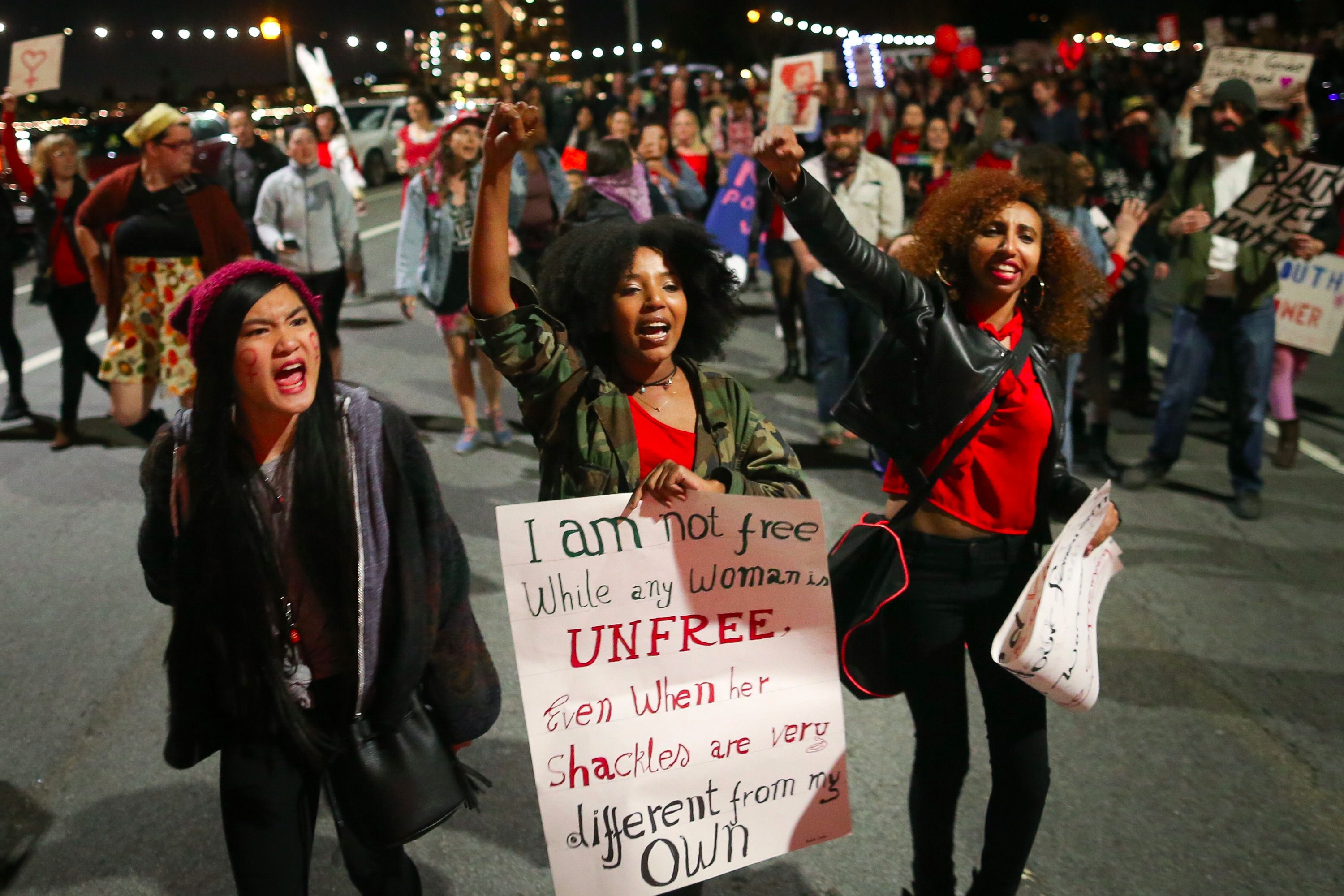 International Women's Day protest in Oakland, CA.