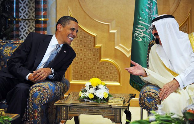 Not All Smiles: President Obama and Saudi King Abdullah bin Abdul Aziz al-Saud shared a laugh at the start of Obama?s visit to Saudi Arabia on June 3. But the administration says it is frustrated by the Saudis? inflexibility toward Israel.