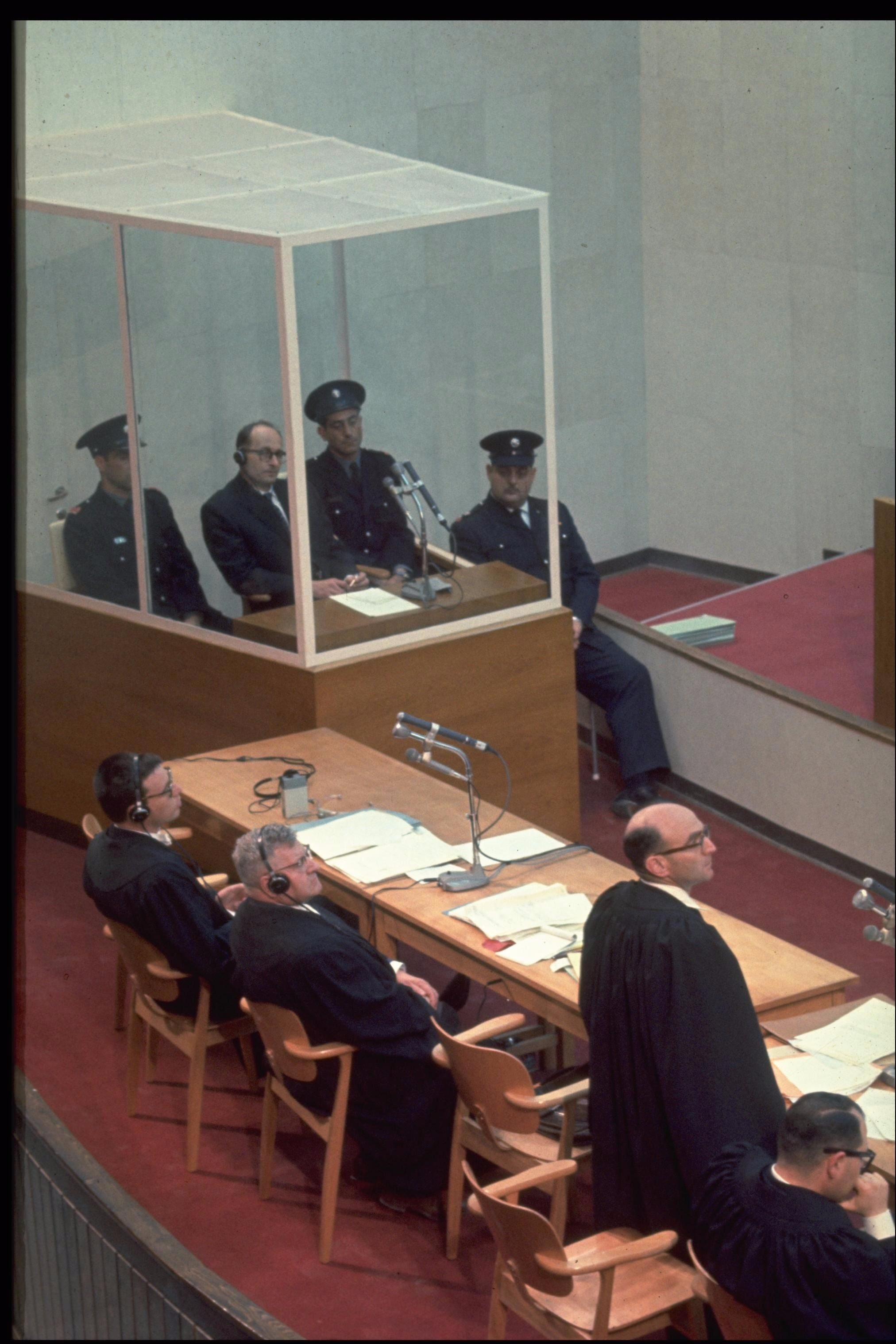 An image from the 1961 trial of Adolf Eichmann.