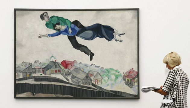Just Floating an idea: In 2006, Germans had a chance to see Chagall?s artistic reappropriation of the luftmentsh as portrayed in ?Over the City?s Roofs? at the Frieder Burda museum in Baden-Baden.