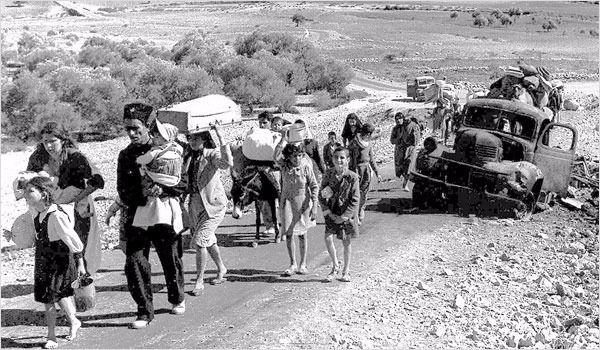 Palestinian refugees during the 1948 war.