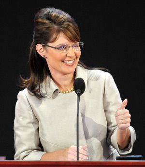 Her Moment : Palin at the GOP national convention in 2008. She has garnered plaudits from prominent neo-conservatices, including William Kristol, Norman Podhoretz and Seth Lipsky.