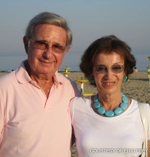 THE GOOD LIFE: Robert Frey with his wife Gerda.