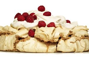 Cinnamon hazelnut pavlova from ?The Modern Menu.?