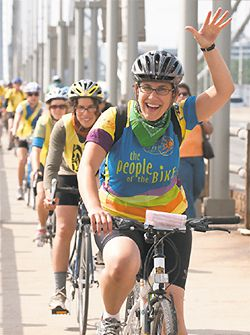 Pedal Power: Cyclists take part in Hazon?s New York Jewish Environmental Bike Ride in 2009.