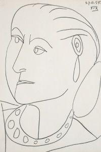 Pablo Picasso, Portrait of Helena Rubinstein, 1955