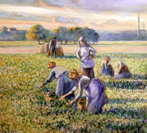 Picking Peas, 1887, Collection of Bruce and Robbi Toll. Richard Goodbody/The Jewish Museum