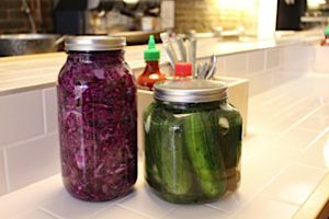 House Cured: Itta Werdiger Roth?s kitchen is filled with large mason jars of pickled cucumbers and cabbage.