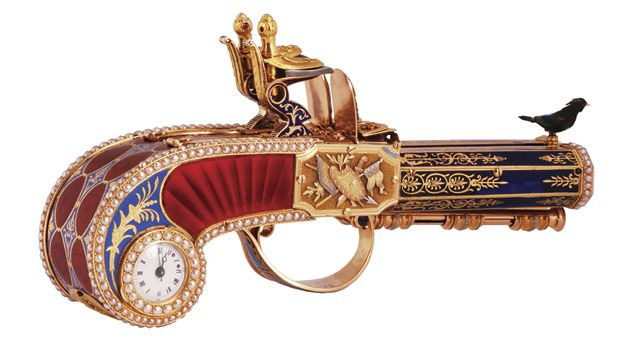 Fancy Timeworks: A 19th-century Pistol Clock