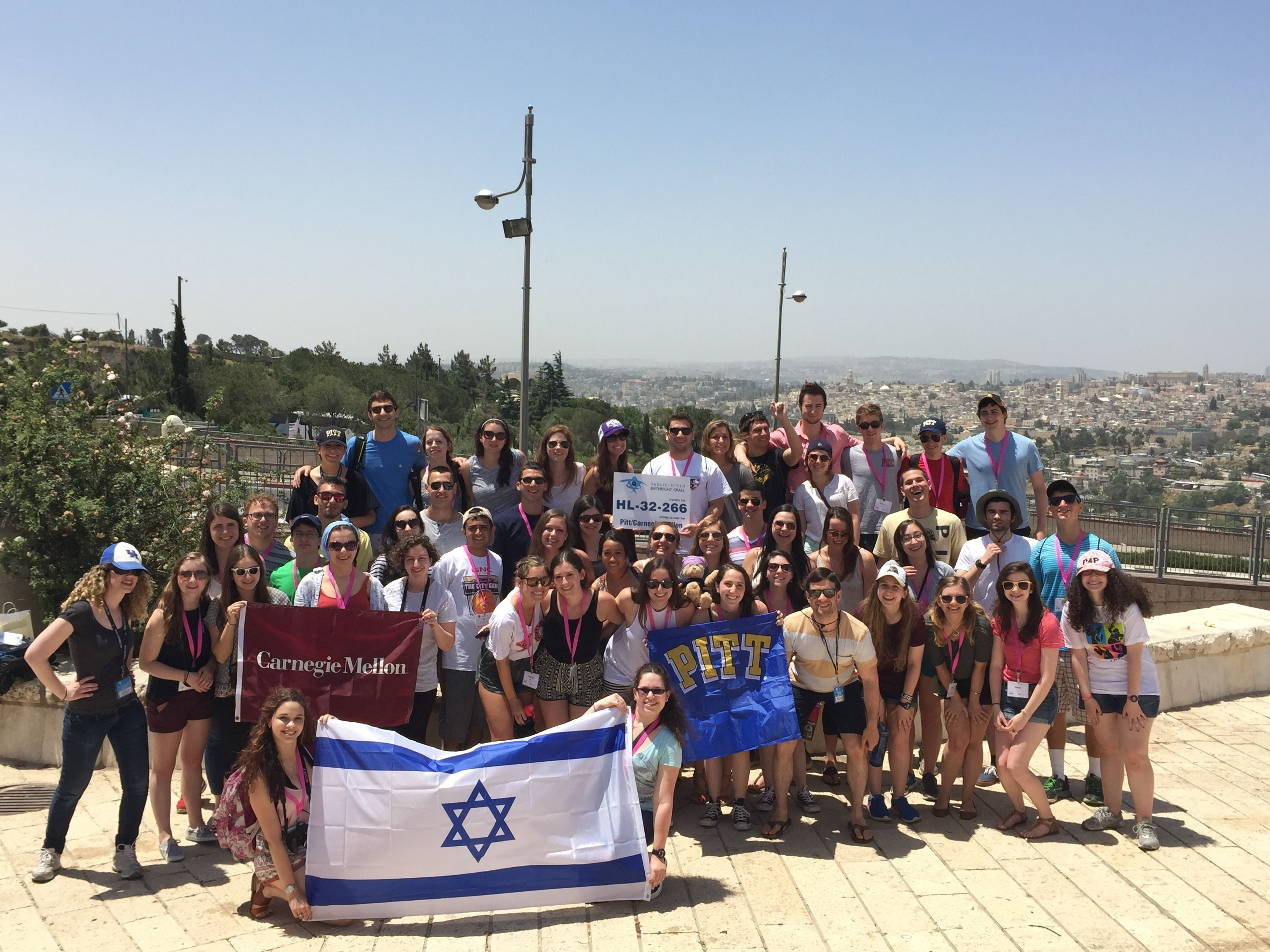 Pittsburgh-area students on Birthright.