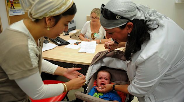 Children across Israel were vaccinated with a live strain of the Polio virus to help create immunity among the general population.
