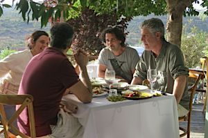 Bourdain?s Visit: On a recent trip to Israel Anthony Bourdain stopped in at Majda with chef Yotam Ottolenghi.