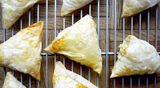 Tasty Pockets: These pumpkin-and-feta stuffed phyllo pockets are based on a recipe for filikas de balabak, a dish traditionally enjoyed by Turkish Jews.