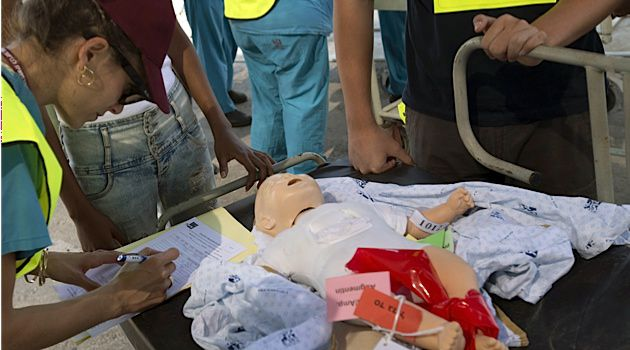Israeli medical squads practice preparedness drills for possible earthquakes in Israel?s north.