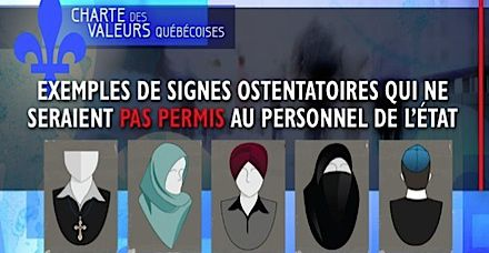What Not To Wear: Quebec?s Charter of Values would forbid government employees including teachers from wearing any of the above.