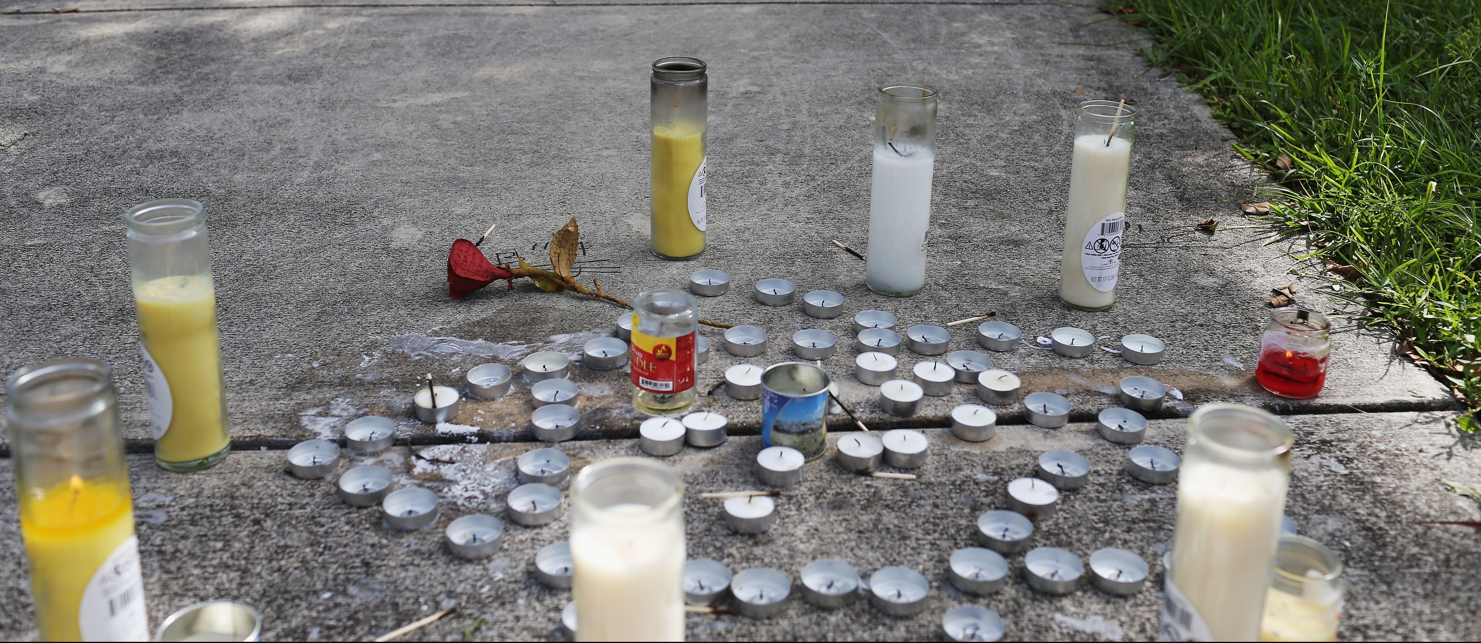 Memorial for Brooklyn Rabbi Joseph Raksin in North Miami Beach.