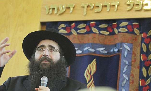 ?Huge Influence?: Rabbi Pinto draws crowds in New York and Israel.