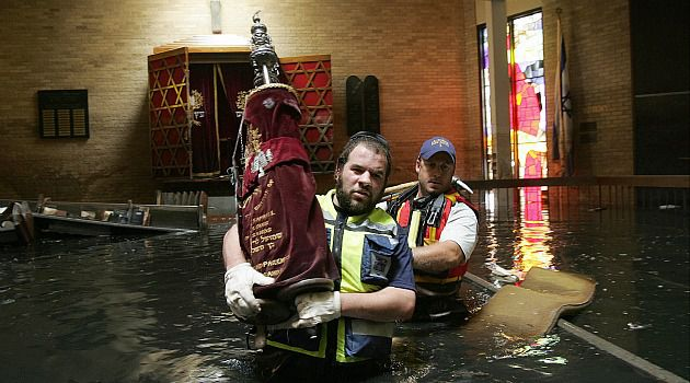 Rabbi to the Rescue: American volunteers with an Israeli charity rescued seven Torah scrolls from a New Orleans synagogue flooded by Hurricane Katrina.