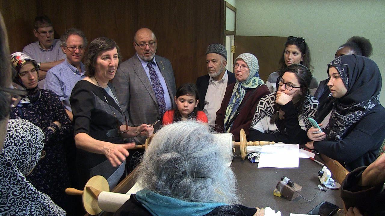 Interfaith dialogue in action.