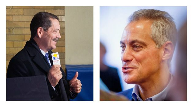 """Jew Vs. Jesus? Jesus """"Chuy"""" Garcia and Mayor Rahm Emanuel face off in Tuesday's general election for Chicago mayor."""