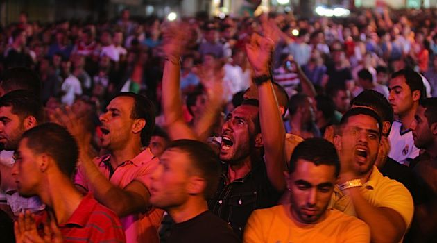 In the Streets: Thousands gather in Ramallah to celebrate the victory of a Palestinian contestant on the popular show ?Arab Idol?.