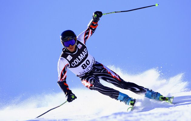 Slalom: Israeli skier Mikail Renzhin competes in 2008 at the FIS Skiing World Cup in Val d?Isere, France.
