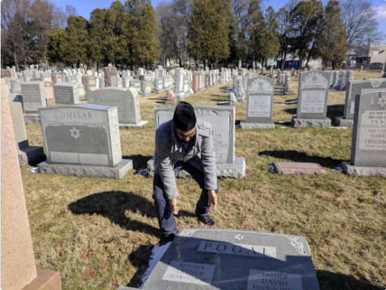 Members of the Muslim community in Rochester seemingly raced to the cemetery to right toppled Jewish headstones.