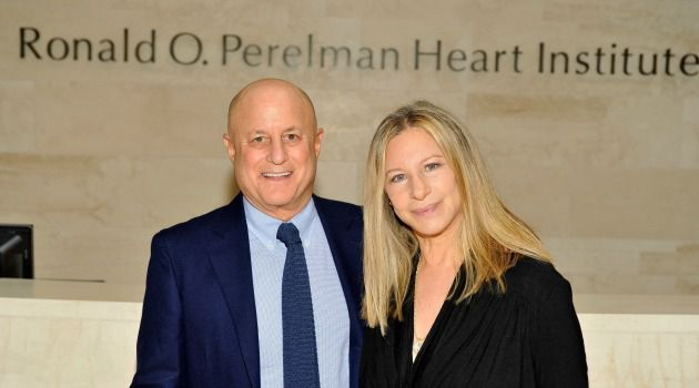 Celebrity and Charity: Ronald Perelman is as famous for tabloid headlines as he is for his charitable contributions. Here, he and Barbra Streisand visit the Ronald O. Perelman Heart Institute at New York Presbyterian Hospital.