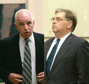 Indicted former Aipac analysts Steve Rosen (left) and Keith Weissman (right) have chosen different political paths.