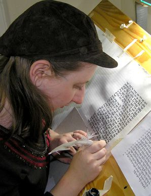 Jen Taylor Friedman is the first woman to scribe a Torah. It was unveiled September 9 in Manhattan