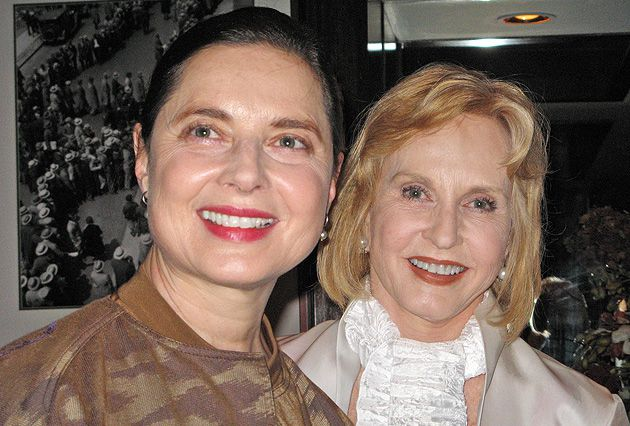 Sisters: Isabella Rossellini, left, and guest of honor Pia Lindstrom.