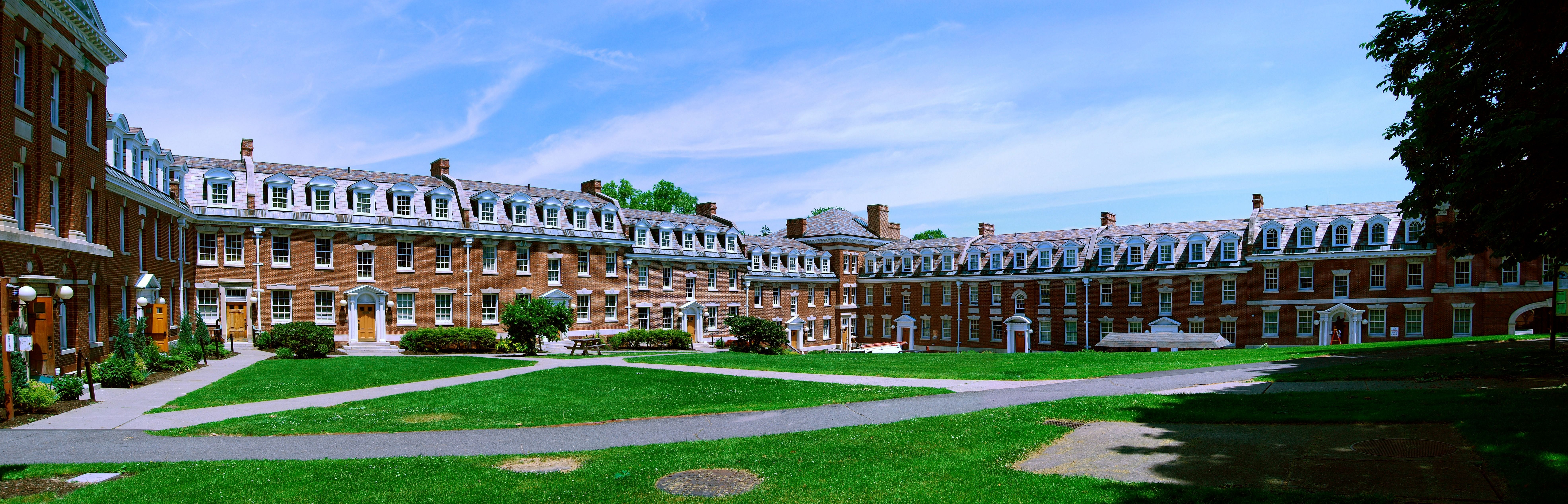 The quad at Rensselaer Polytechnic Institute.