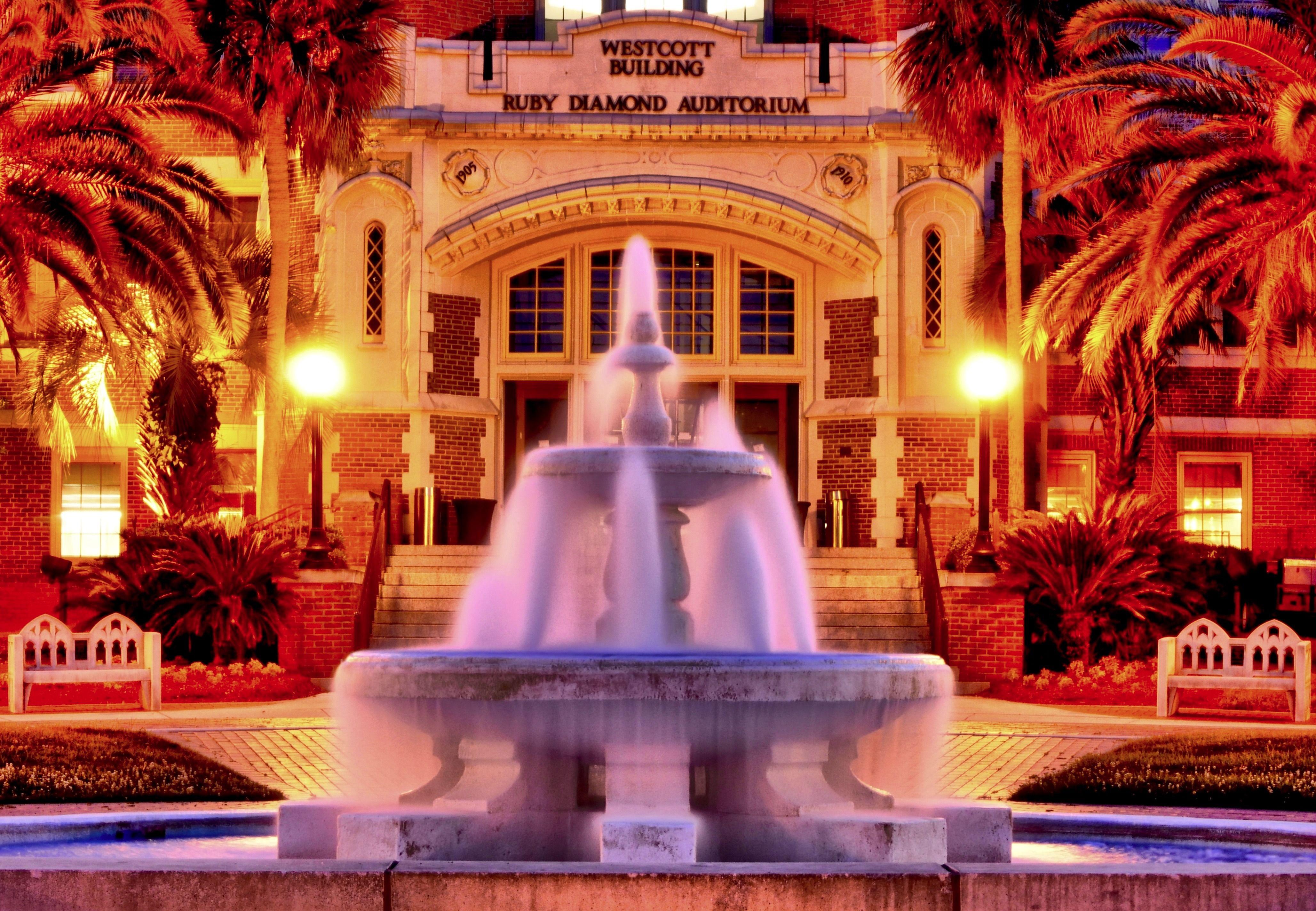 The Westcott Building and Ruby Diamond Auditorium at Florida State University.