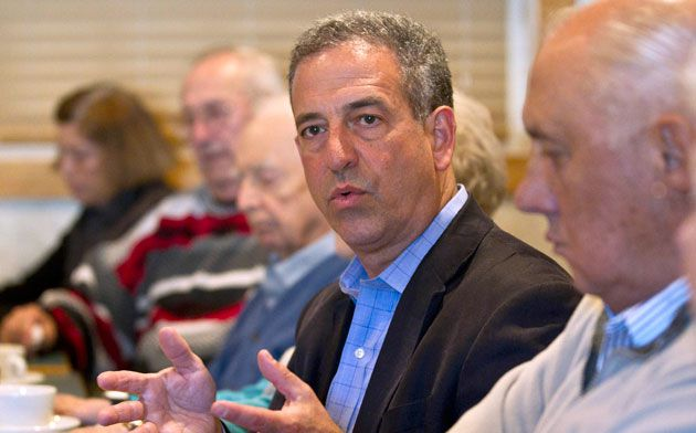 Maverick: Russell Feingold (above) faces a tough battle to maintain his Senate seat as polls consistently show him trailing his Republican challenger, Ron Johnson.