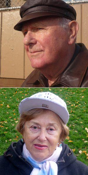 Brighton Beach Survivors: Michael Gershon, 84, and Irina Reznikova, 77, are angry about the fraud.
